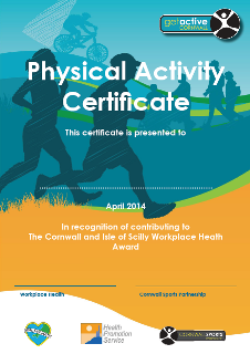 Physical Activity Certificate
